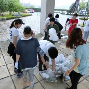 仁大生による地域清掃活動「クリーンアップ企画」