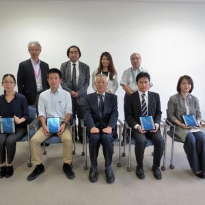 平成28年度前期 仁愛大学授業評価優秀者賞授与が行われました。