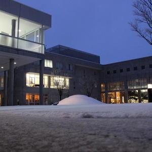 仁愛大学にも雪がつもりました!