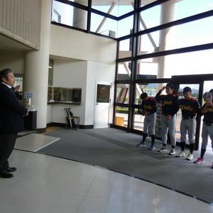【軟式野球部】壮行会を行いました!