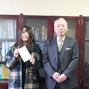 仁愛大学開学20周年記念事業 ロゴマーク決定 表彰式を行いました
